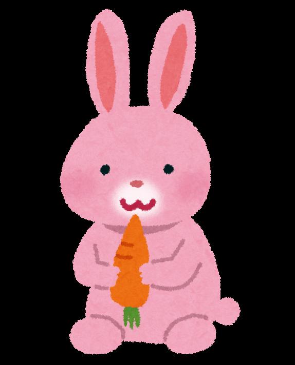 ピンクのうさぎのイラスト かわいいフリー素材集 いらすとや