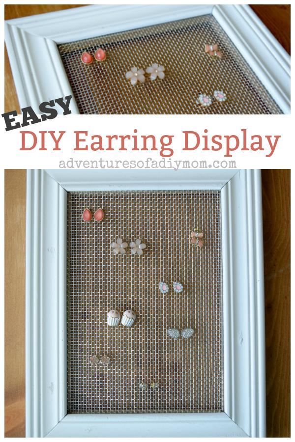 Easy Diy Earring Display Adventures Of A Diy Mom