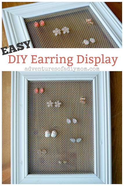 Earring display collage