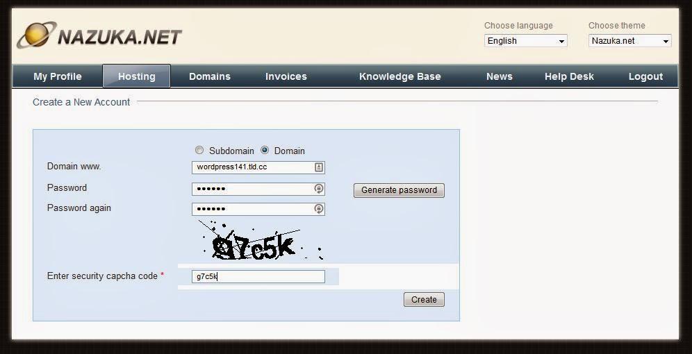 pendaftaran hosting website