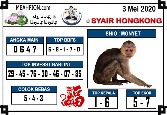 Prediksi Togel Hongkong 03 Mei 2020 - Syair Mbah Pion HK