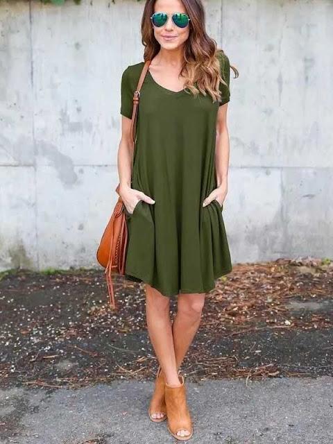 Olive Short Dress