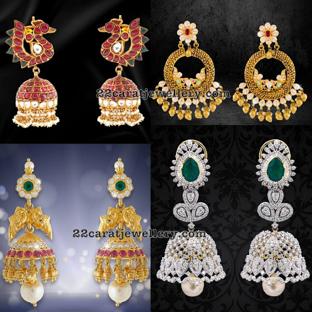 Jhumkas and Chandbalis by Krishna Pearls and Gems