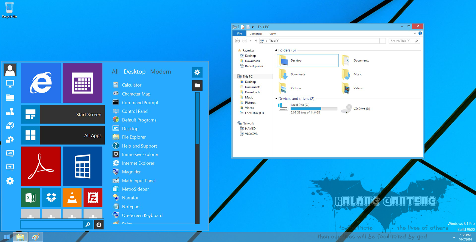 Windows 10 Skin Pack for Windows 7 Screenshot