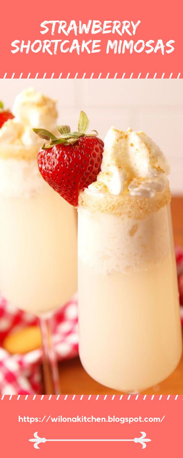 Strawberry Shortcake Mimosas