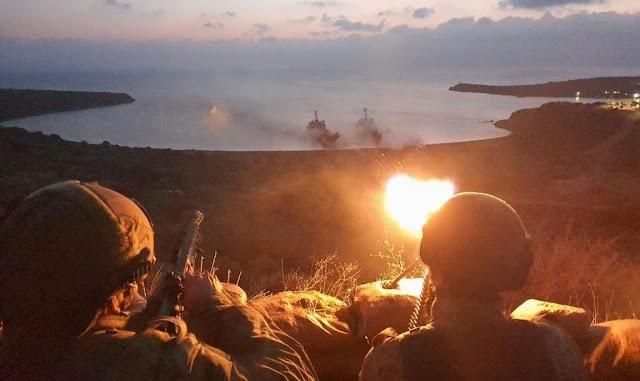 Αποβατική Άσκηση έκαναν οι Τούρκοι έξω από τη Σμύρνη (ΦΩΤΟ)