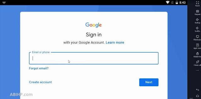 Login Akun Google Nox