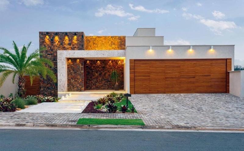 Construindo minha casa clean fachadas de casas revestidas - Pintado de fachadas ...