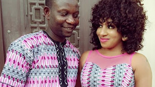 """My Husband Is The Best "" – Actress Mide Martins Love Up With Her Husband, Afeez Abiodun"