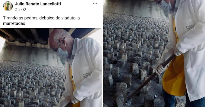 Padre Julio Lancellotti diz que prefeitura sabia de pedras em viaduto