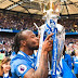 Victor Moses Celebrates With Family On The Pitch After Lifting EPL Trophy.Photos