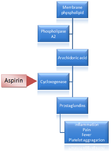 mechanism of action of aspirin