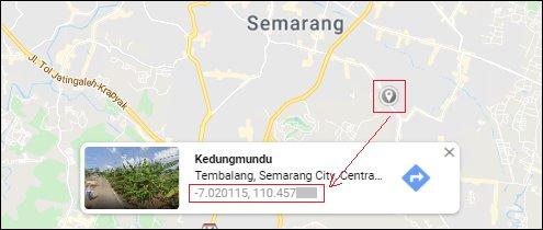 Titik Koordinat Rumah - Google Maps