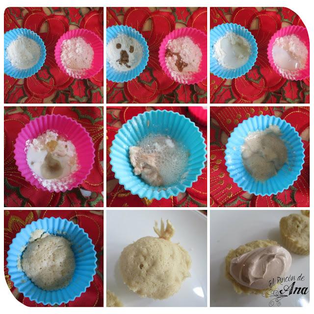 Cupcake en el microondas