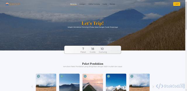 Aplikasi Web Penjualan Tiket Pendakian Gunung (Codeigniter)