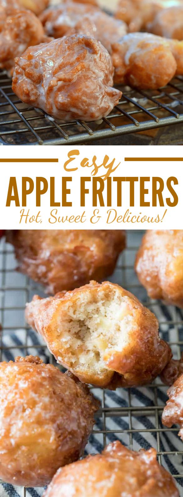 EASY APPLE FRITTERS #desserts #homemade