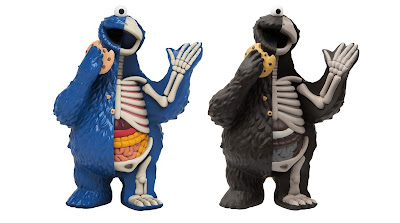 Sesame Street Cookie Monster XXRAY Plus Vinyl Figure OG Blue & Mono Editions by Jason Freeny x Mighty Jaxx