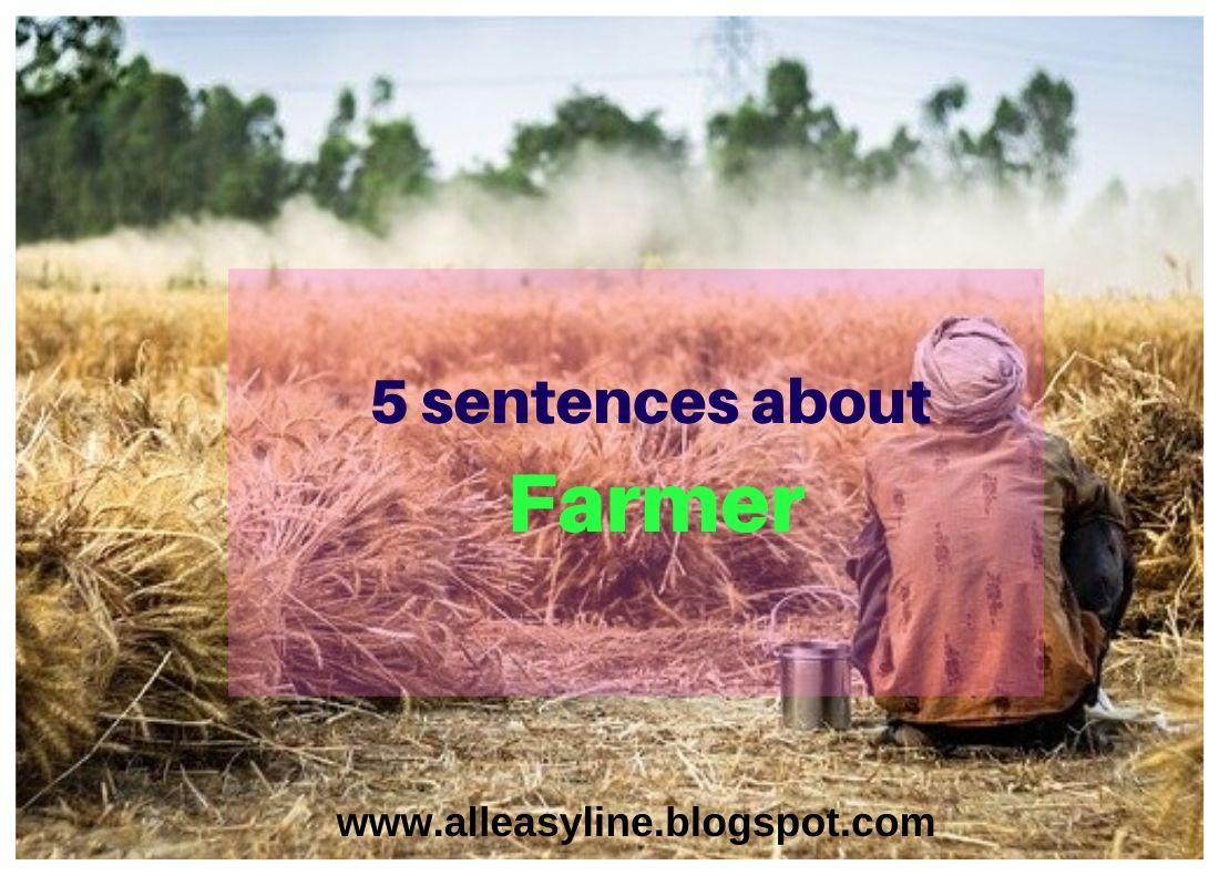 5 Sentences About Farmer 5 Lines On Farmer
