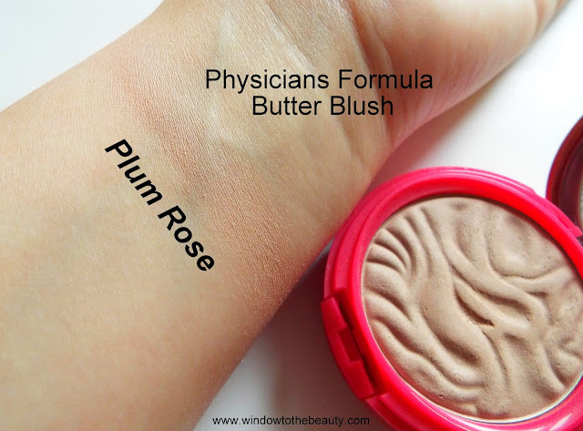 Physicians Formula Butter Blush plum rose swatches