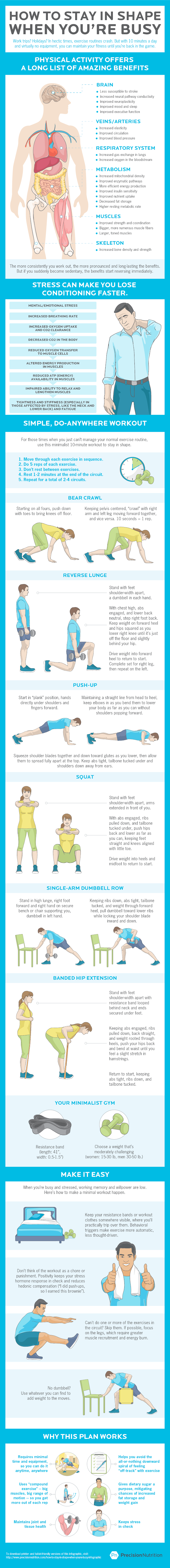 How to stay in shape when you're busy #infographic
