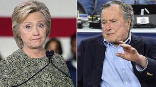 George H W Bush 'Will Vote For Hillary Clinton' in unprecedented Snub To Republican Candidate Donald Trump