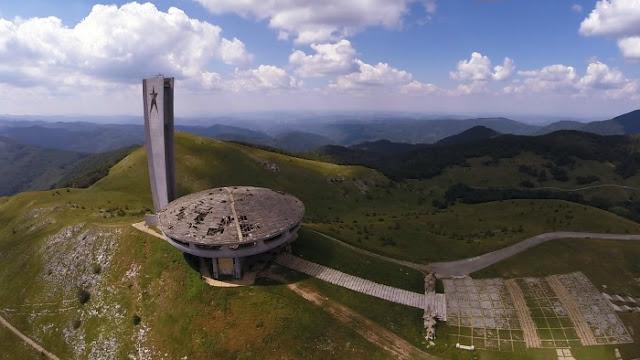 Buzludzha desde el aire Bulgaria