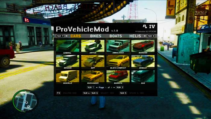 GTA IV Pro Vehicle Spawner Mod Menu Trainer   Download GTA 4 Mod