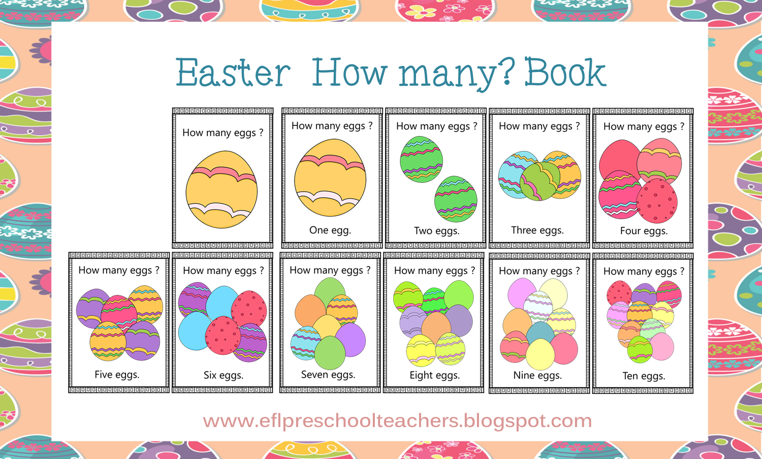Esl Efl Preschool Teachers Easter For Preschool Ell
