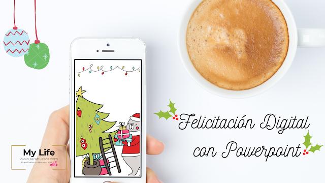 felicitacion, digital, navidad, gratis, tutorial, powerpoint