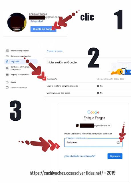Ver la contraseña de gmail abierto