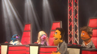 The Voice Three celebrity judges, Sesame Street Episode 4304 Baby Bear Comes Clean
