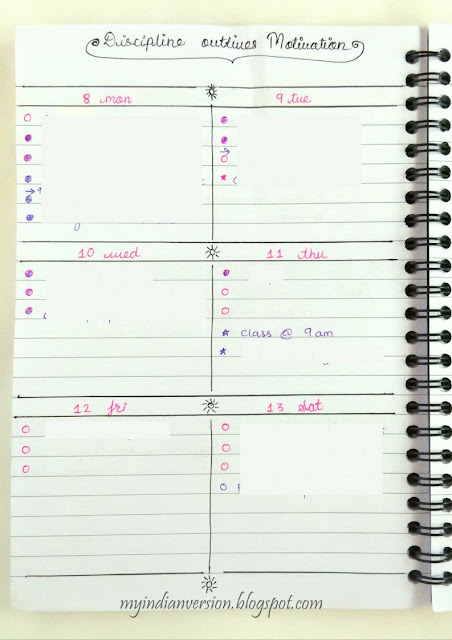 bullet-journal-weekly-calendar-on-one-page-myindianversion-blog