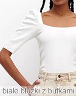 letnie białe bluzki z bufkami
