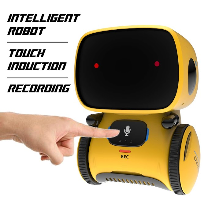 REMOKING Robot Toy, Educational Stem Toys Robotics for Kids,Dance,Sing,Speak Like You,Recorder,Touch and Voice Control, Gifts for Kids