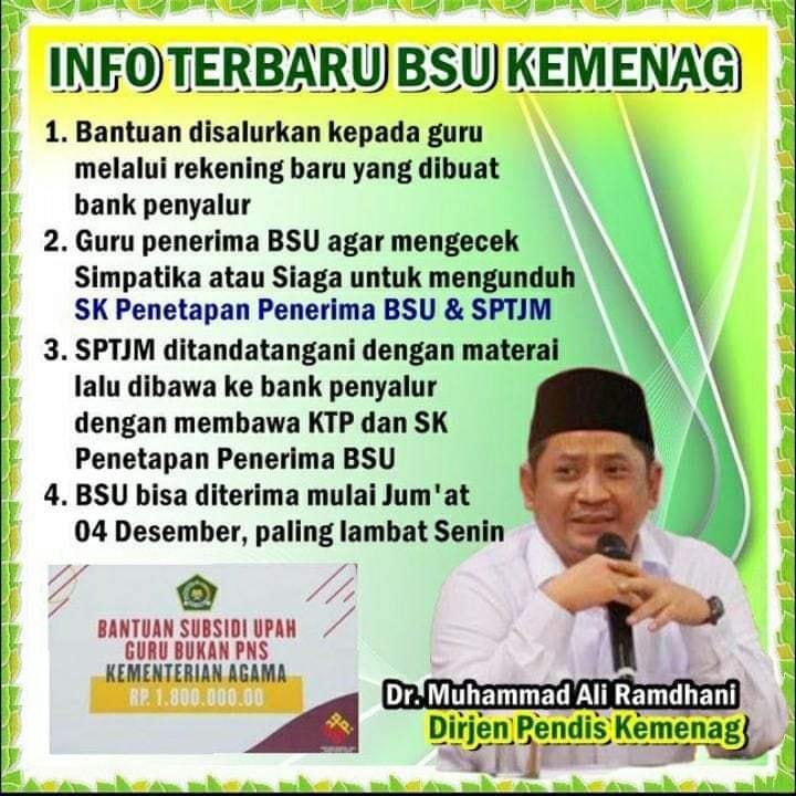 gambar info BSU Kemenag terbaru