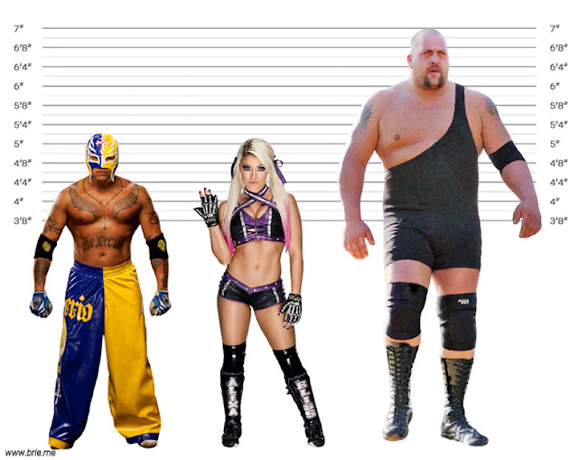 Alexa Bliss with Rey Mysterio and Big Show