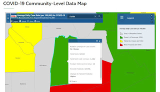 Franklin data on COVID-19 community map