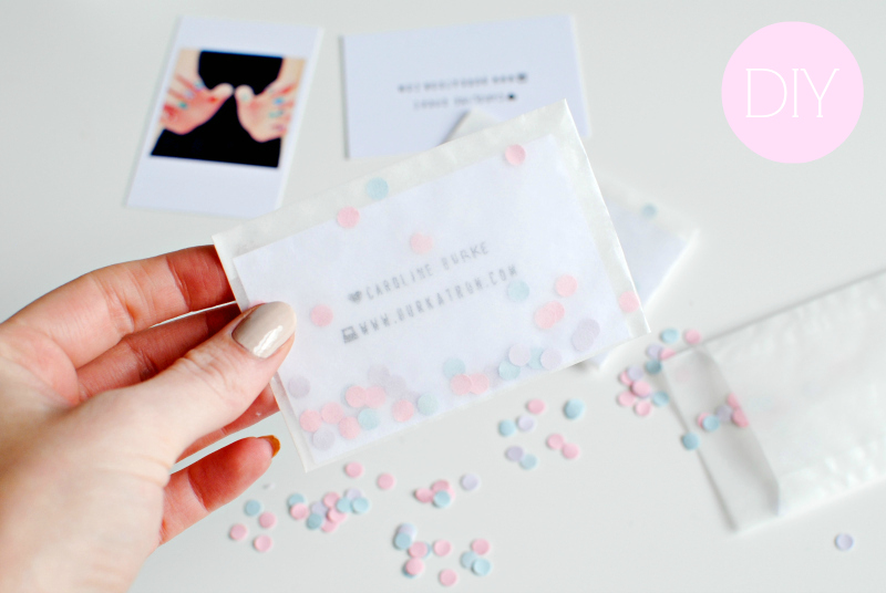 make your own business card diy