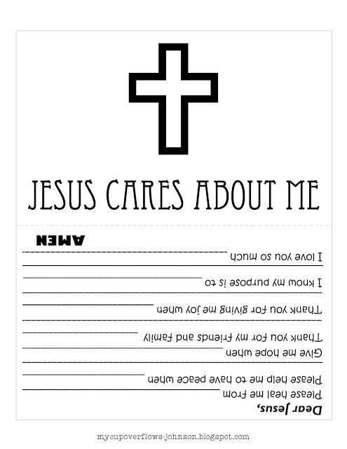 Jesus cares about me doctor's bag and tools coloring worksheet