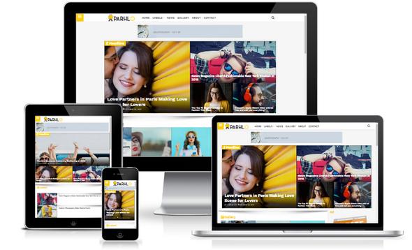 Parhlo Premium Blogger Template