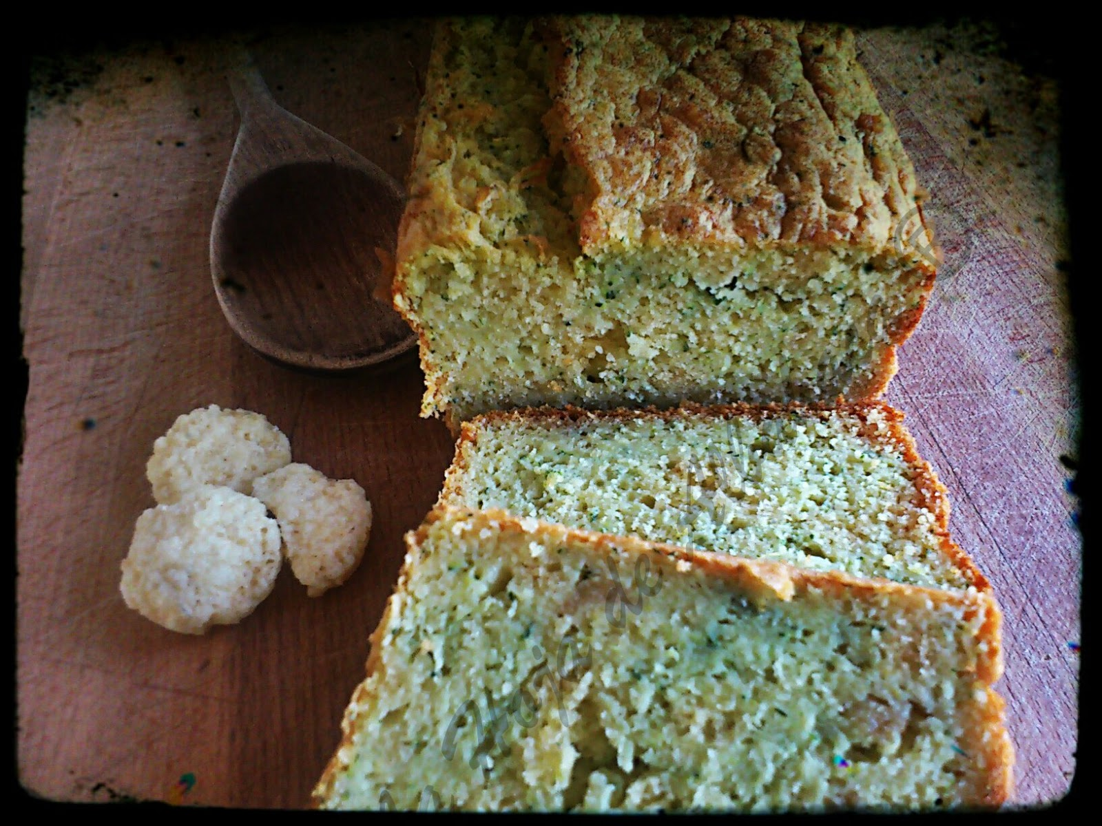 cake de calabacín, calabacín, grok, parmesano, pastel