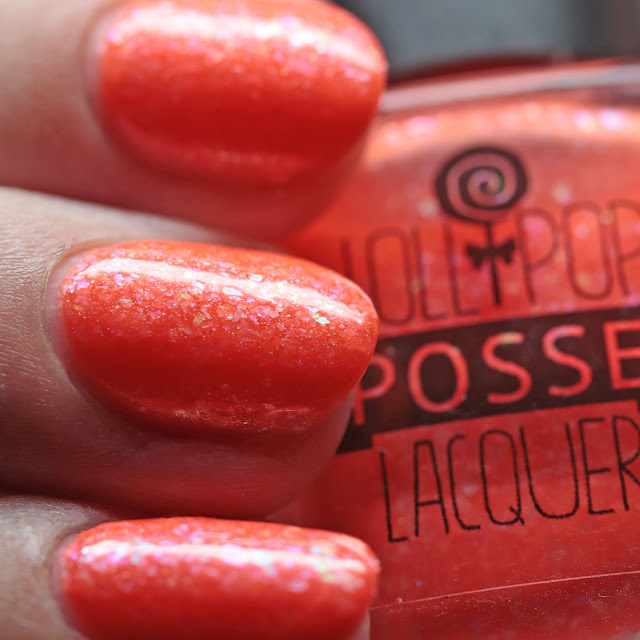 Lollipop Posse Lacquer Metaphorical Gin and Juice with top coat