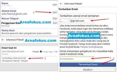 Nomor FB Menjadi Email