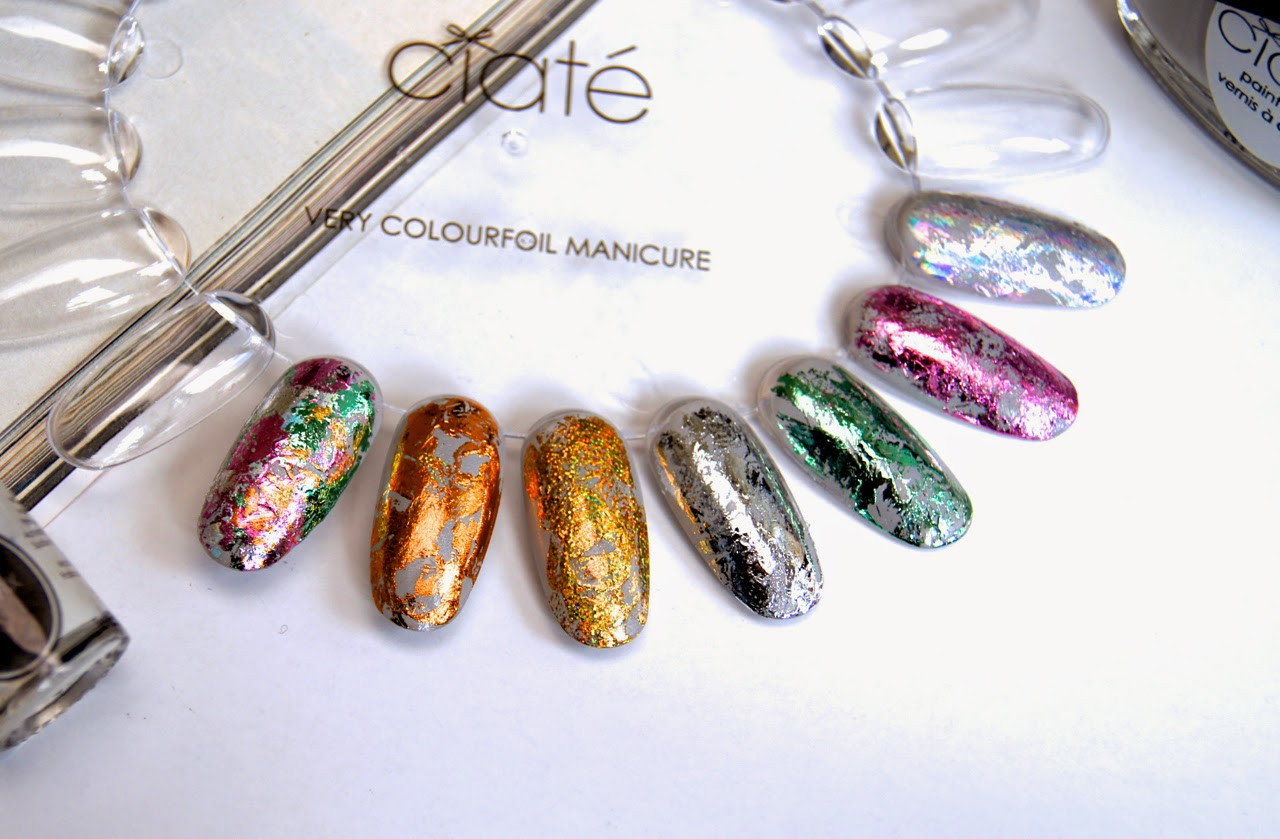 ciate very colourfoil manicure set wonderland swatches nail design