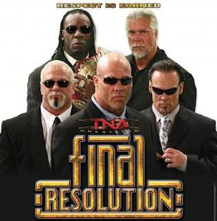 TNA Final Resolution 2008 - Event Poster - www.retroprowrestling.com