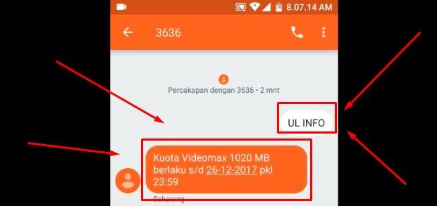 Cek Pulsa Telkomsel Dengan Mengirim SMS 2