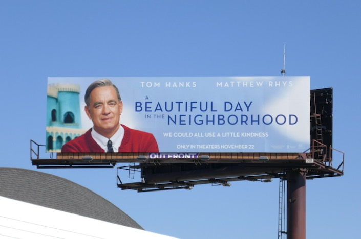 A Beautiful Day in the Neighborhood movie billboard