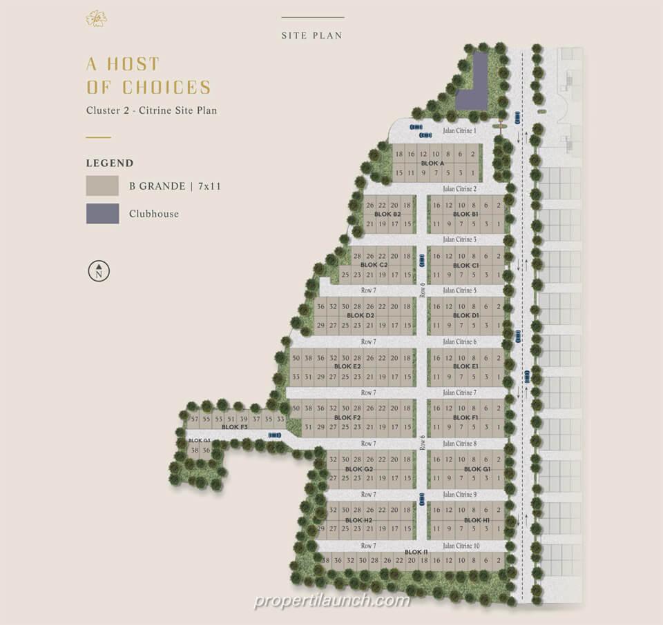 Site Plan Cluster Citrine Lavon 2 Tangerang