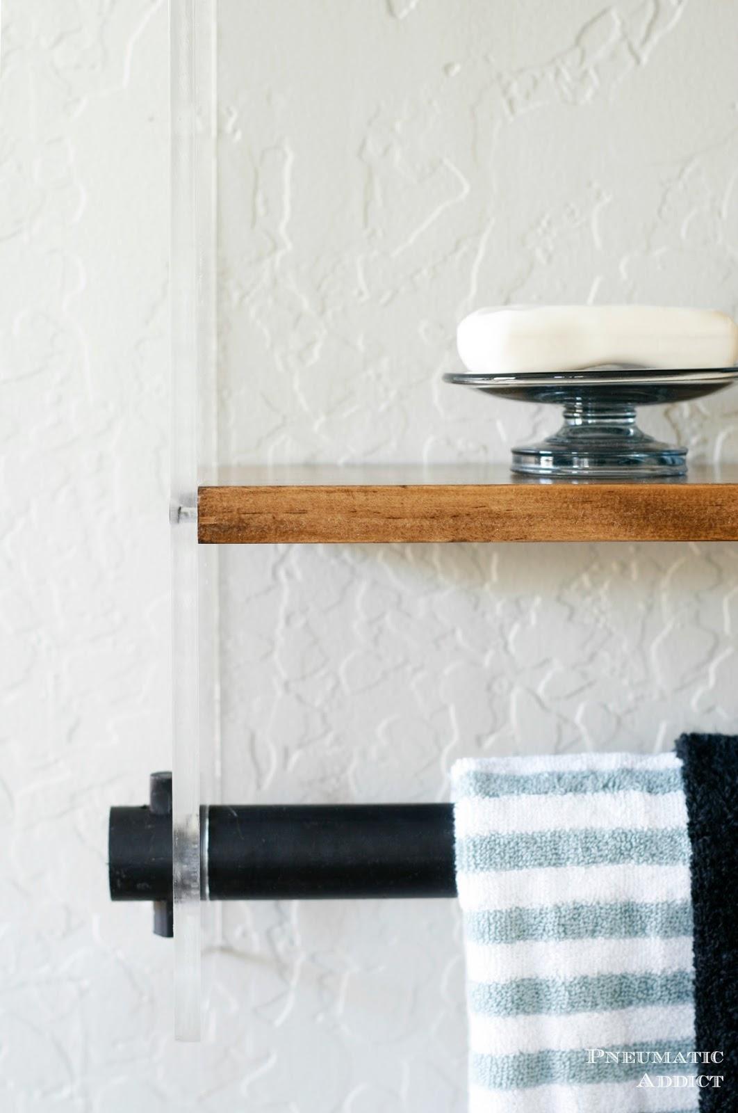 Wood and Acrylic Bathroom Shelf   Pneumatic Addict