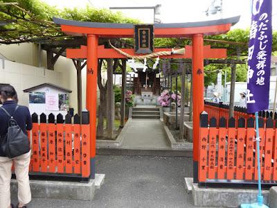 【大阪市福島区】春日神社の藤(のだふじ発祥の地)